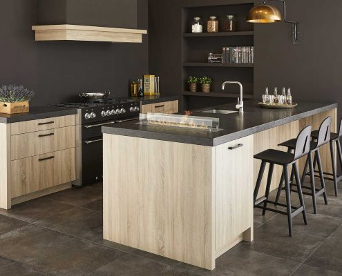 Elba Washed Oak Contemporary Kitchen
