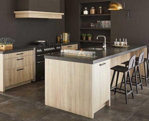 Elba Washed Oak Contemporary Kitchen