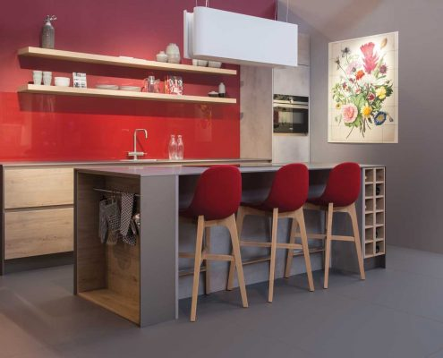 GL2000 Blond Oak & Bolton Concrete Contemporary Kitchen