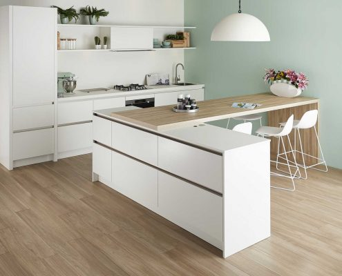 GL5100 Silk Gloss White Contemporary Kitchen
