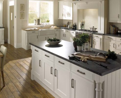 Edwardian Painted Sheraton Traditional Kitchen