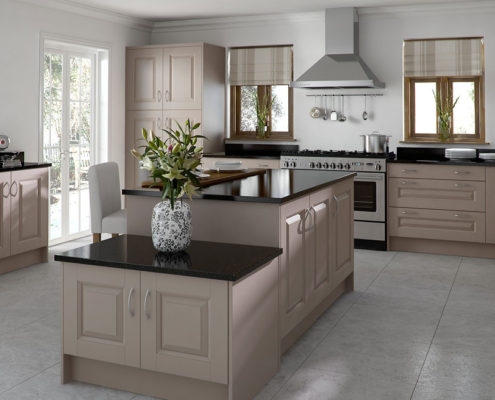 Character Painted Sheraton Traditional Kitchen