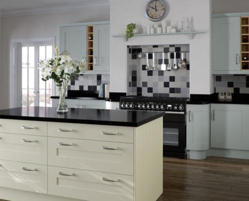 Elegant Painted Sheraton Shaker Kitchen