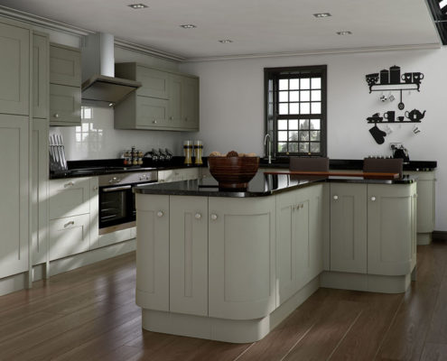 Elegant Painted Sheraton Shaker Kitchen