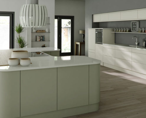 Satosa Painted Sheraton Contemporary Kitchen