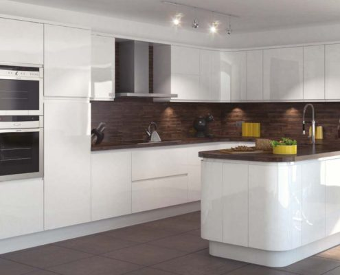 In-Line Gloss Sheraton Contemporary Kitchen