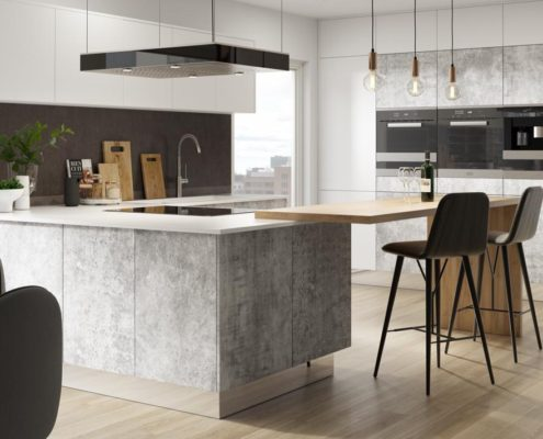 Belato Grey Sheraton Contemporary Kitchen