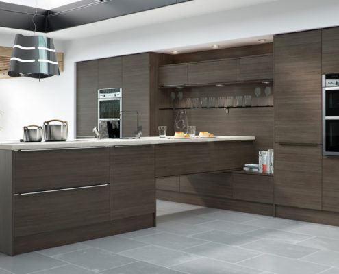 Woodgrain Arlington Sheraton Contemporary Kitchen