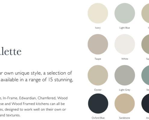 In-Line Gloss Sheraton Contemporary Kitchen Colour Palette