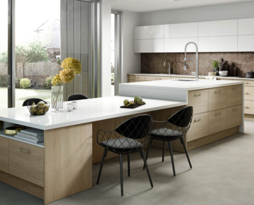 Woodgrain Arlington Sheraton Contemporary Kitchen