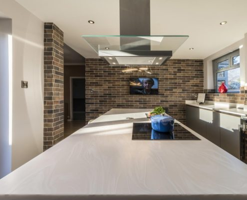 Project 2 GL2000? GL3000 titanium and anthracite with corian worktops and Amtico flooring