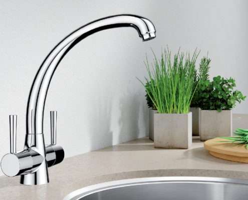 Cleo Blanco Kitchen Taps
