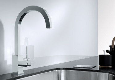 Cubic Blanco Kitchen Taps