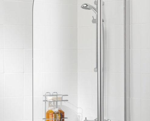 Curved Hinged Bath Screen