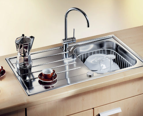 Median Blanco Kitchen Sink
