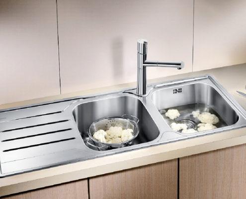 Median Blanco Kitchen Sink