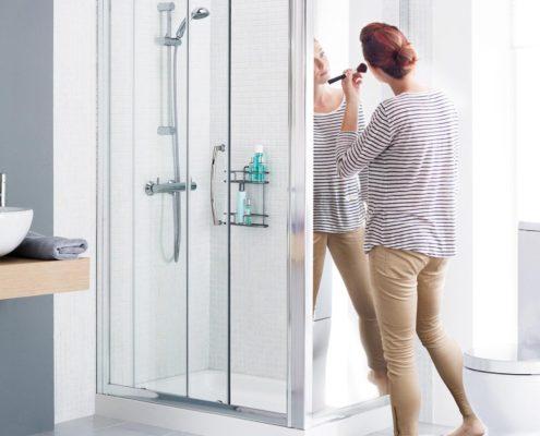 Mirror Shower Enclosure