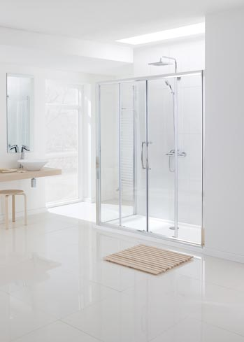 Semi-Frameless Double Slider Shower Door