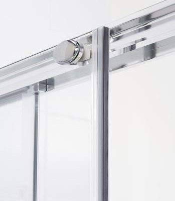 Semi-Frameless Slider Shower Door