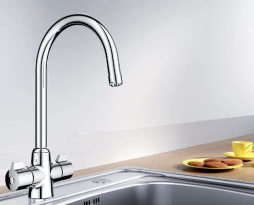 Silk Blanco Kitchen Taps