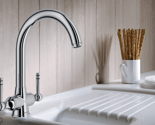 Strand Blanco Kitchen Taps
