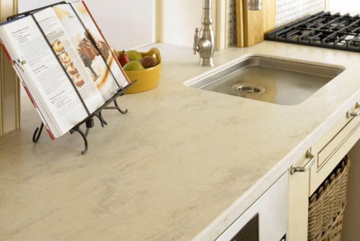 Clam Shell Corian Kitchen Worktop