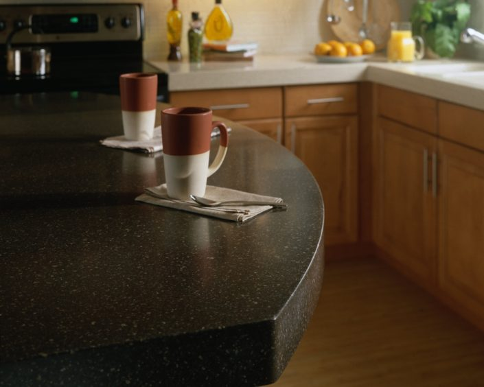 Cocoabrown Corian Kitchen Worktop