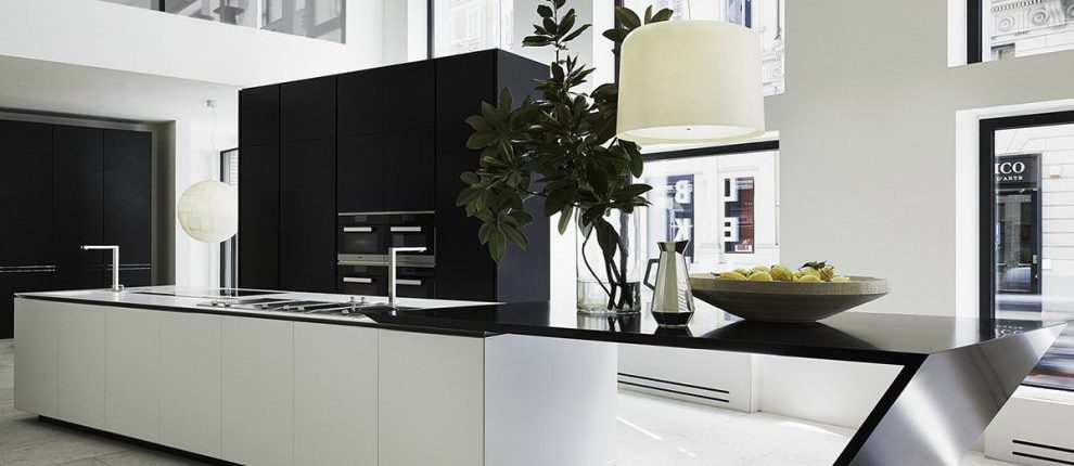 Deep Nocturne Corian Kitchen Worktop