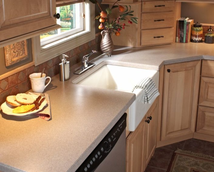 Sandstone Corian Kitchen Worktop