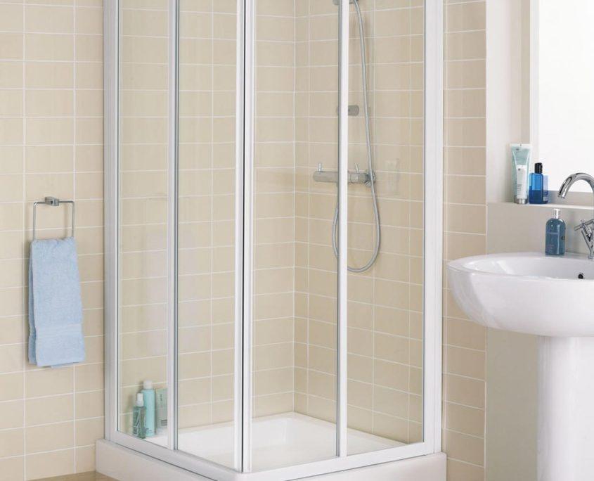 Framed Corner Shower Enclosure