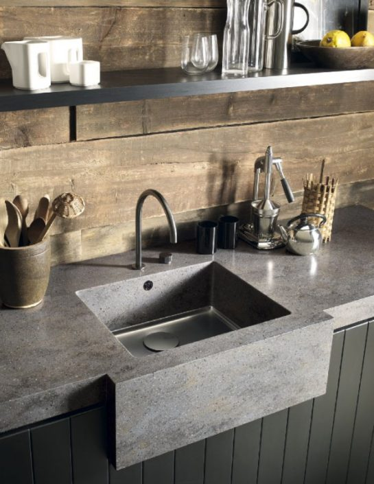 Rustic Corian Kitchen Worktop