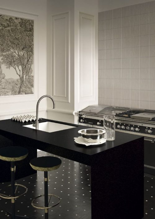 Cosmopolitan Chic Corian Kitchen Worktop