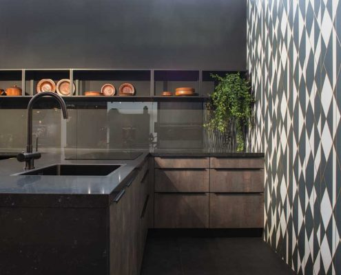 Phoenix Slate & Matt Black Traditional Kitchen