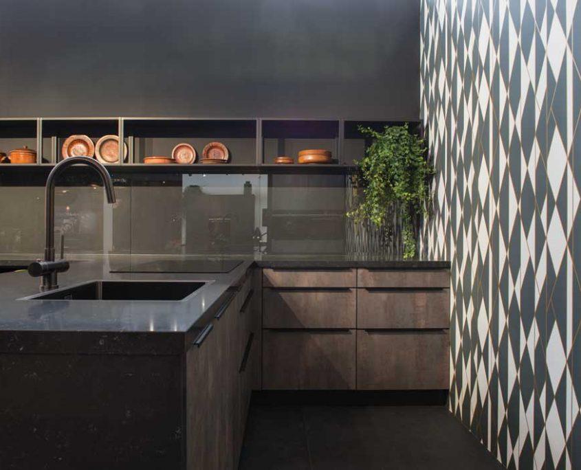 Phoenix Slate & Matt Black Traditional Kitchen
